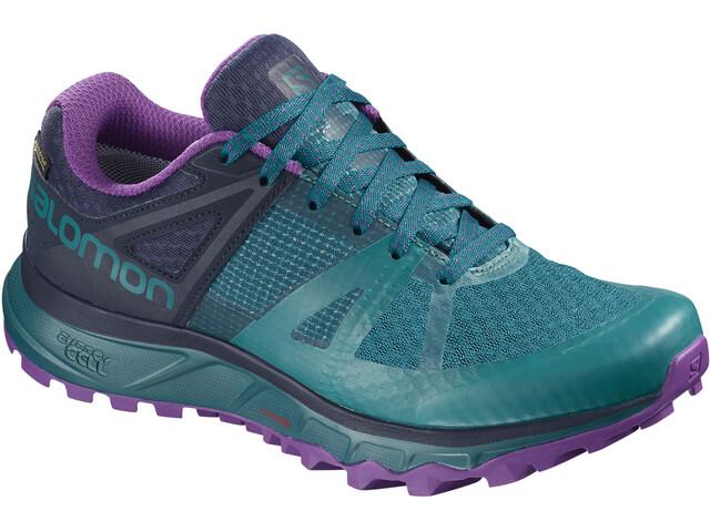 Salomon Trailster GTX Shoes Damen deep lagoon/navy blazer/purple magic